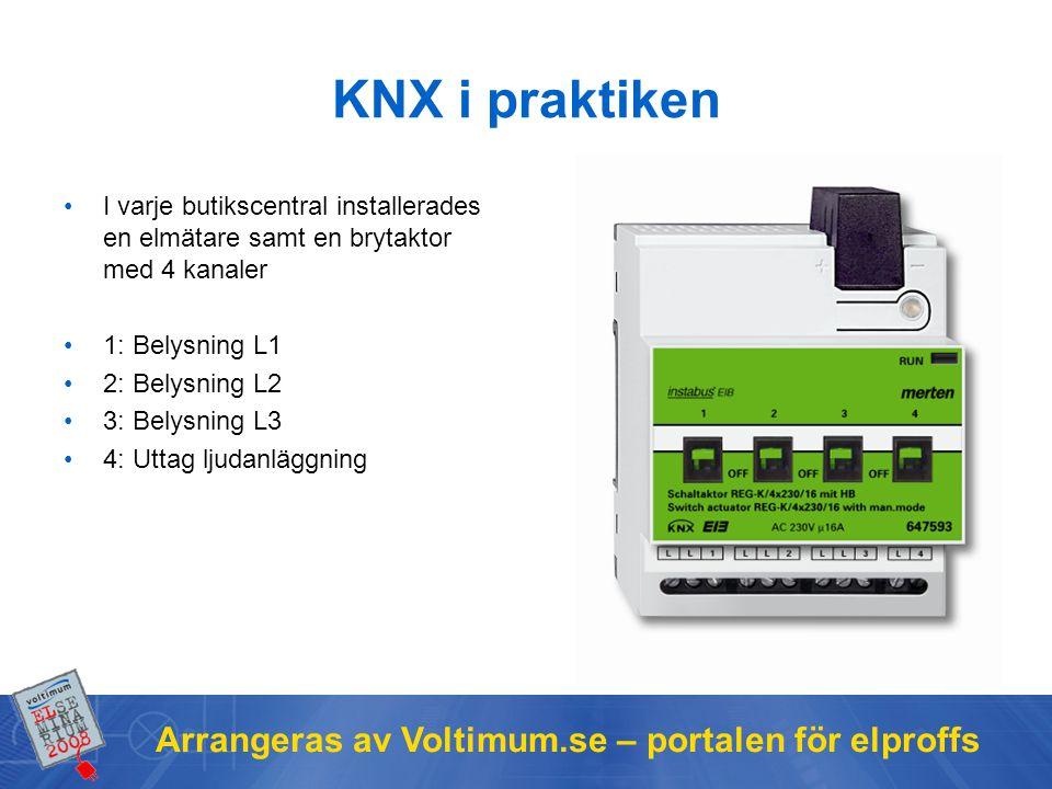 KNX i praktiken Arrangeras av Voltimum.se – portalen för elproffs