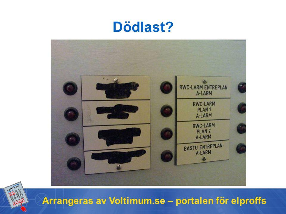 Dödlast Arrangeras av Voltimum.se – portalen för elproffs