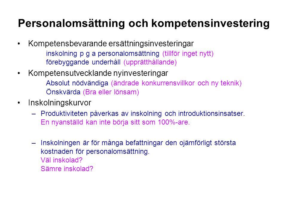Personalomsättning och kompetensinvestering