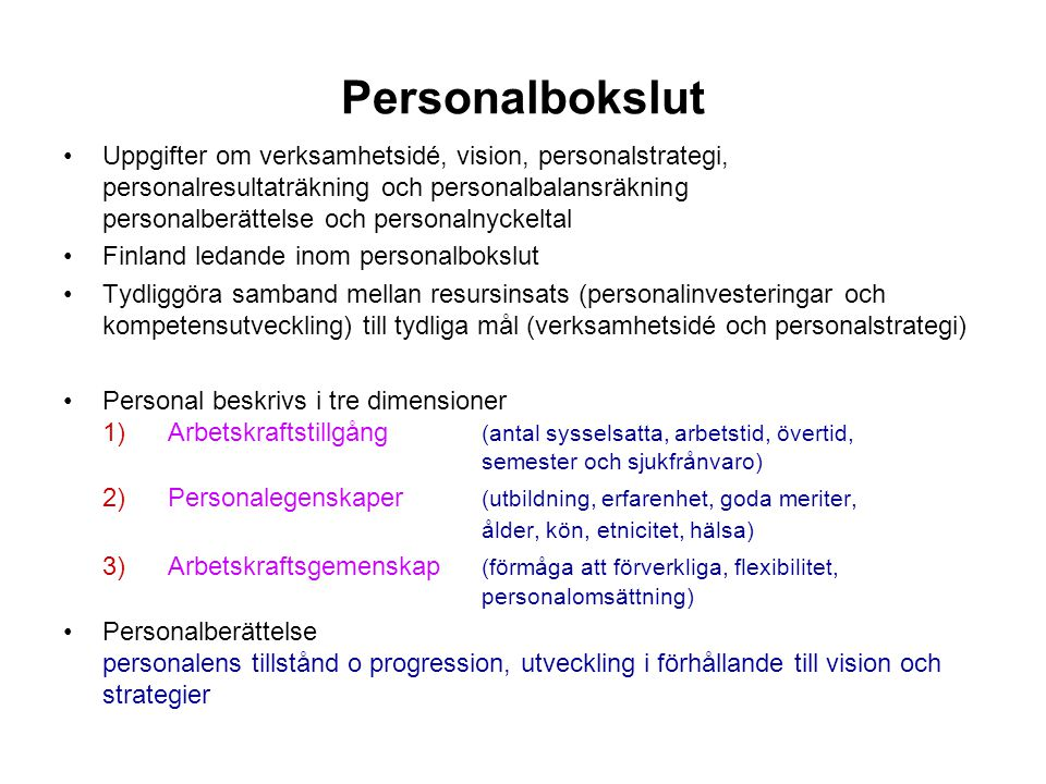 Personalbokslut