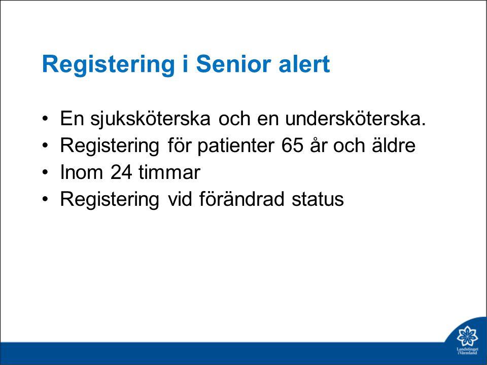 Registering i Senior alert
