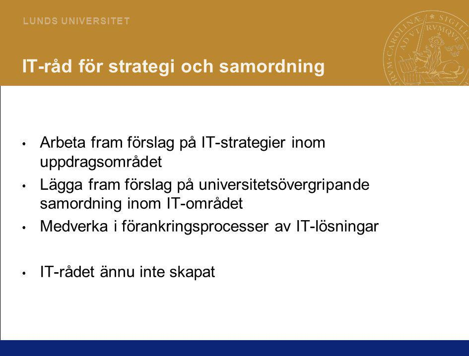 IT-råd för strategi och samordning