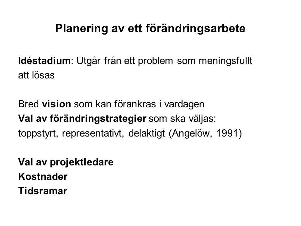 Planering av ett förändringsarbete