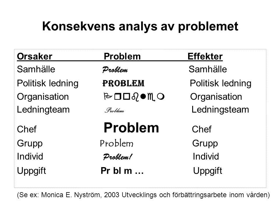Konsekvens analys av problemet