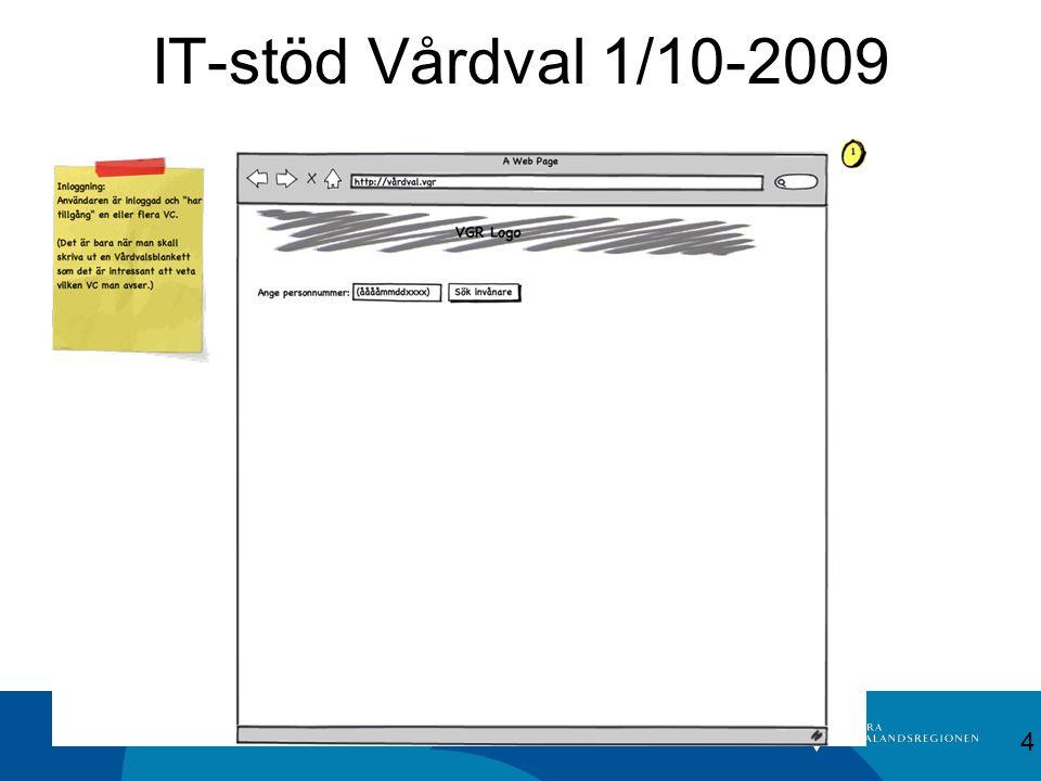 IT-stöd Vårdval 1/10-2009 4
