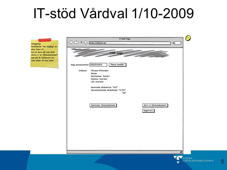 IT-stöd Vårdval 1/10-2009 5