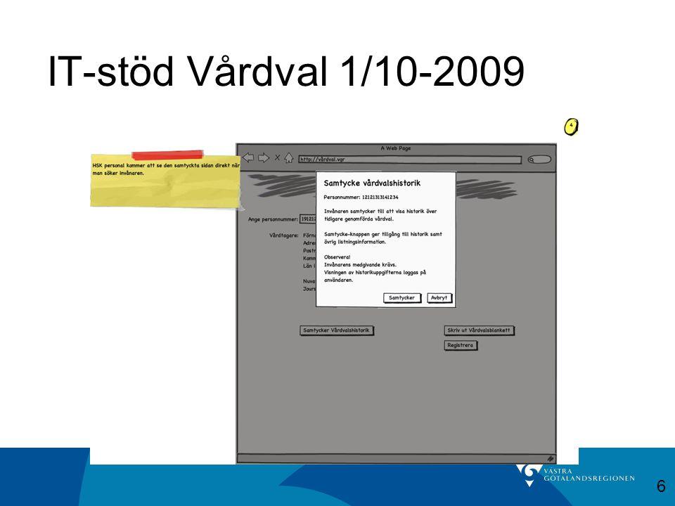 IT-stöd Vårdval 1/10-2009 6