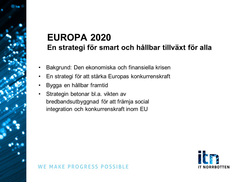 EUROPA 2020 En strategi för smart och hållbar tillväxt för alla