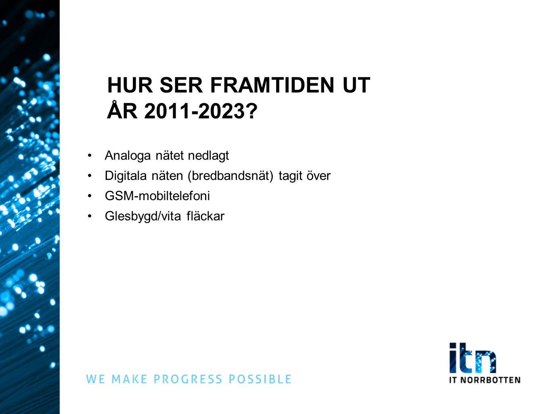 HUR SER FRAMTIDEN UT ÅR 2011-2023