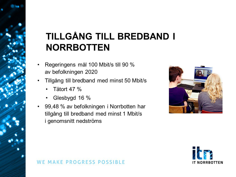 TILLGÅNG TILL BREDBAND I NORRBOTTEN