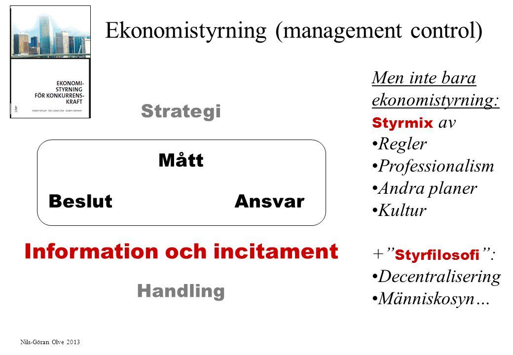 Ekonomistyrning (management control)