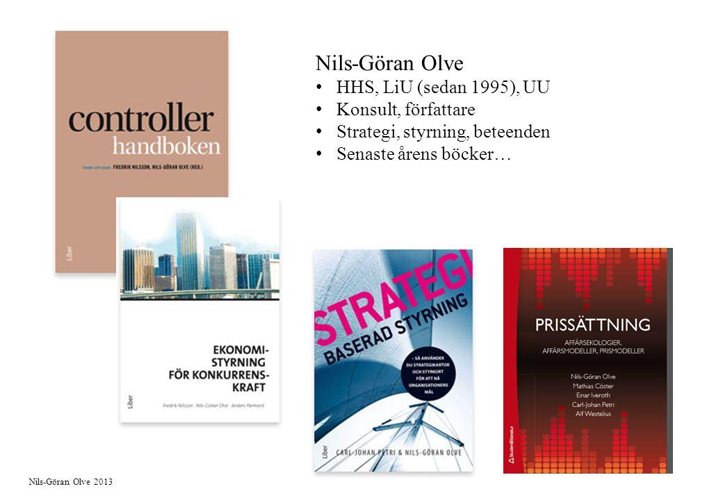 Nils-Göran Olve HHS, LiU (sedan 1995), UU Konsult, författare