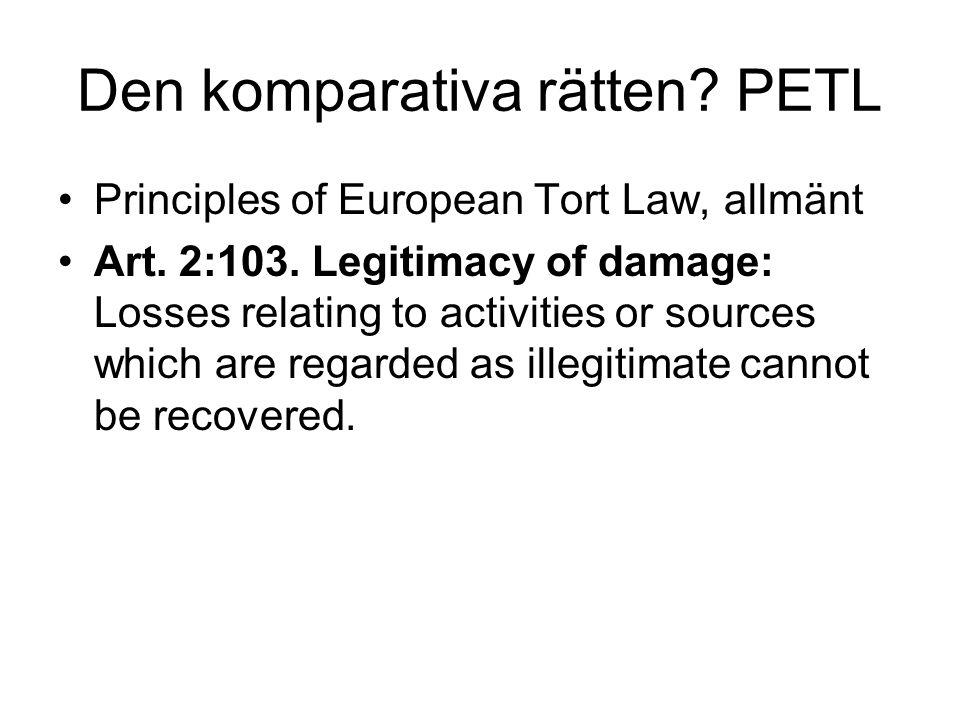 Den komparativa rätten PETL