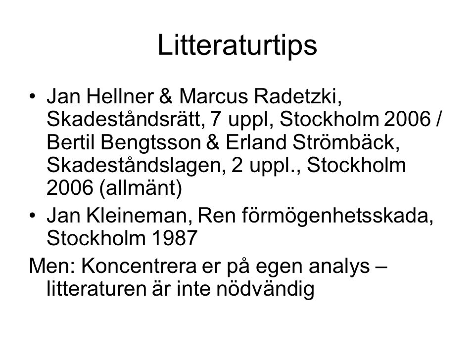 Litteraturtips