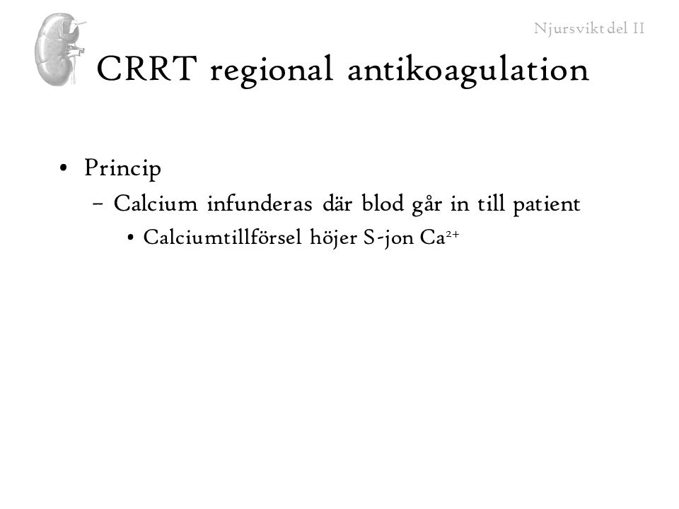 CRRT regional antikoagulation