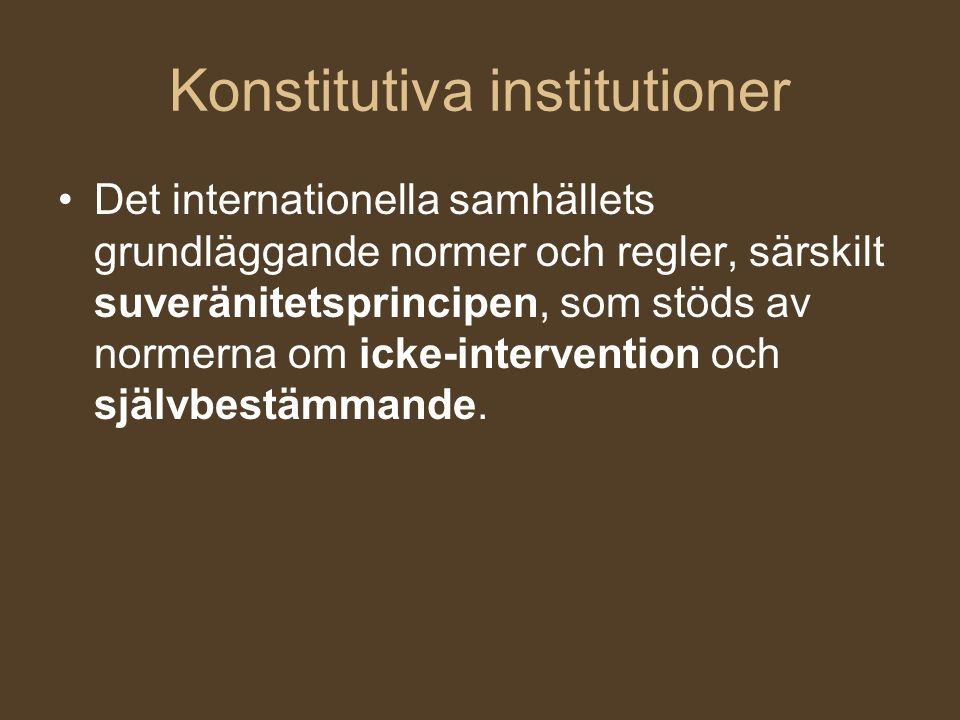 Konstitutiva institutioner