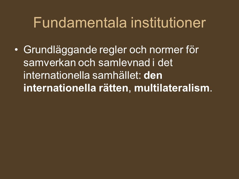 Fundamentala institutioner