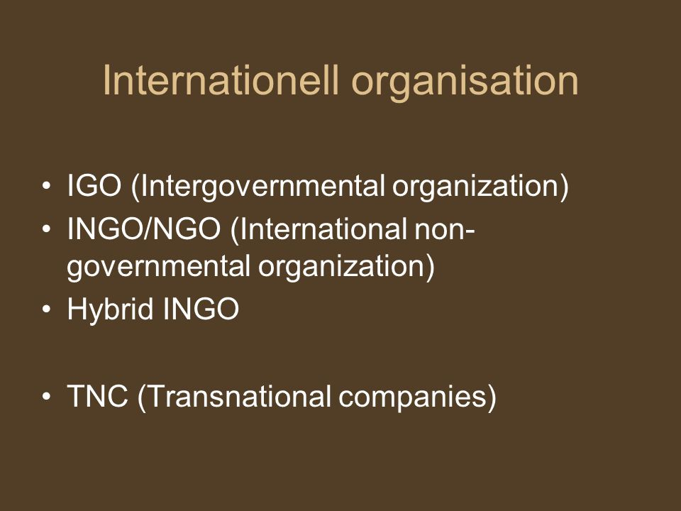 Internationell organisation