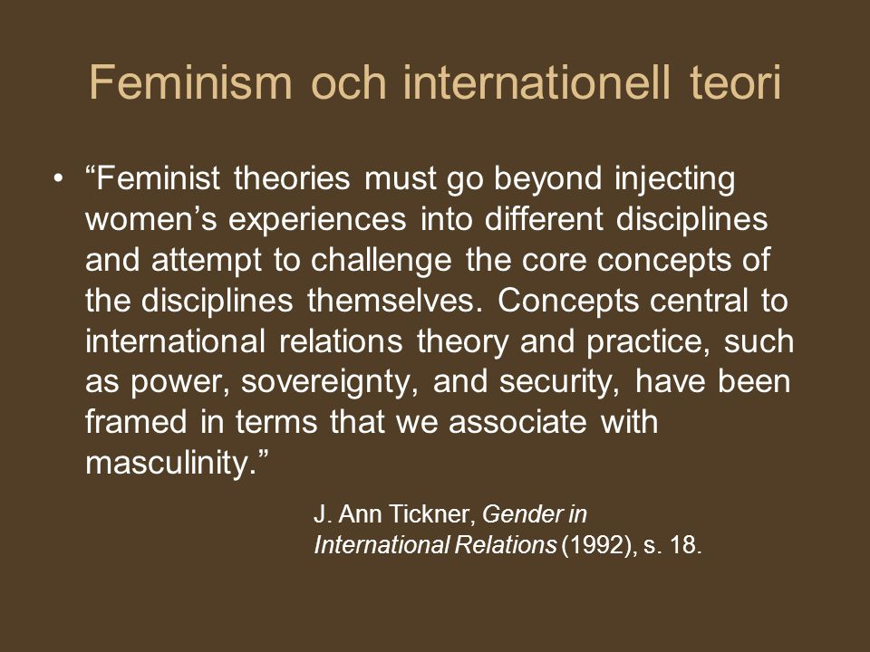 Feminism och internationell teori