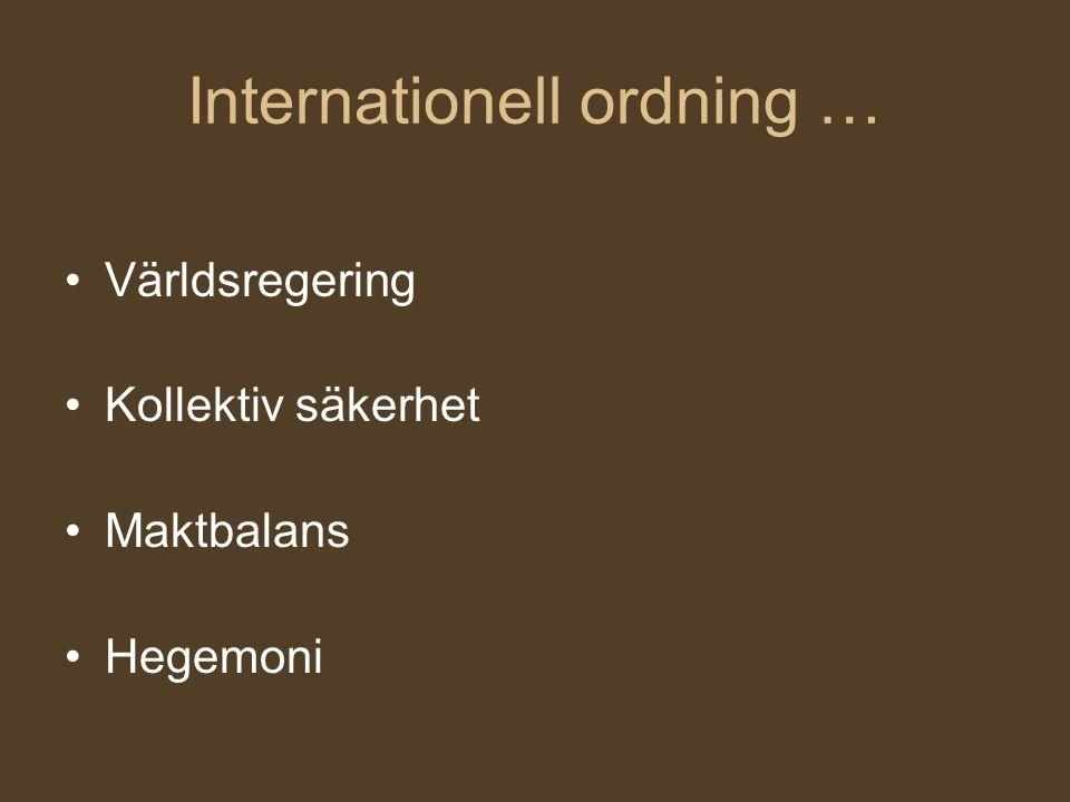 Internationell ordning …