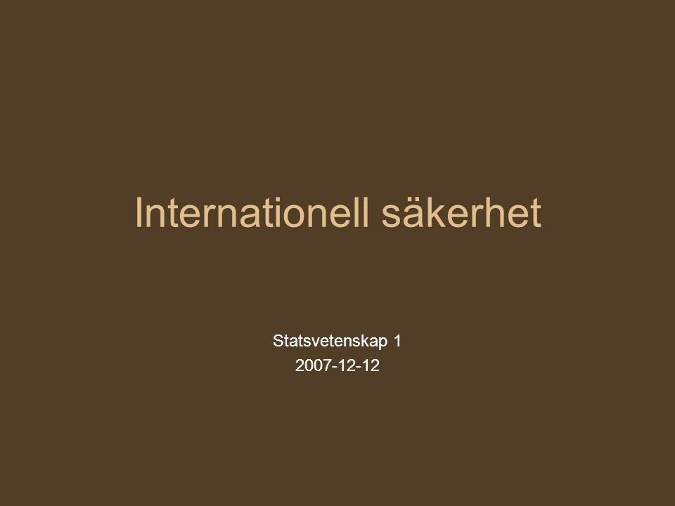 Internationell säkerhet