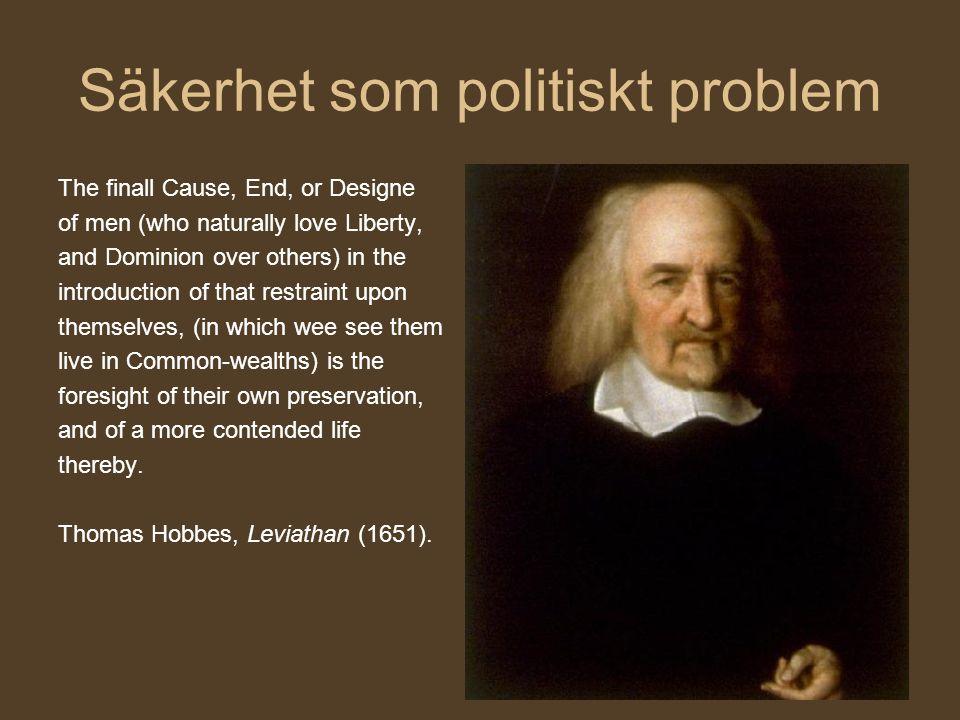 Säkerhet som politiskt problem