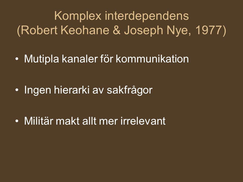 Komplex interdependens (Robert Keohane & Joseph Nye, 1977)