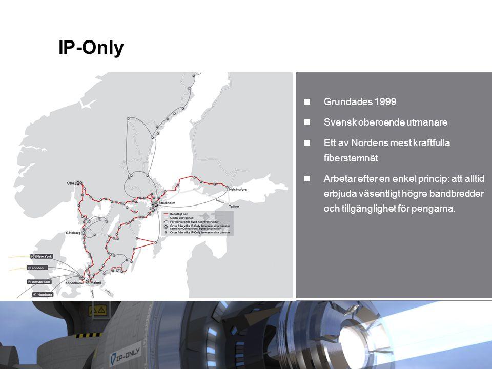 IP-Only Grundades 1999 Svensk oberoende utmanare