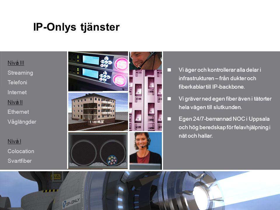 IP-Onlys tjänster Nivå III