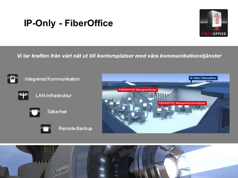 IP-Only - FiberOffice Vi tar kraften från vårt nät ut till kontorsplatser med våra kommunikationstjänster.
