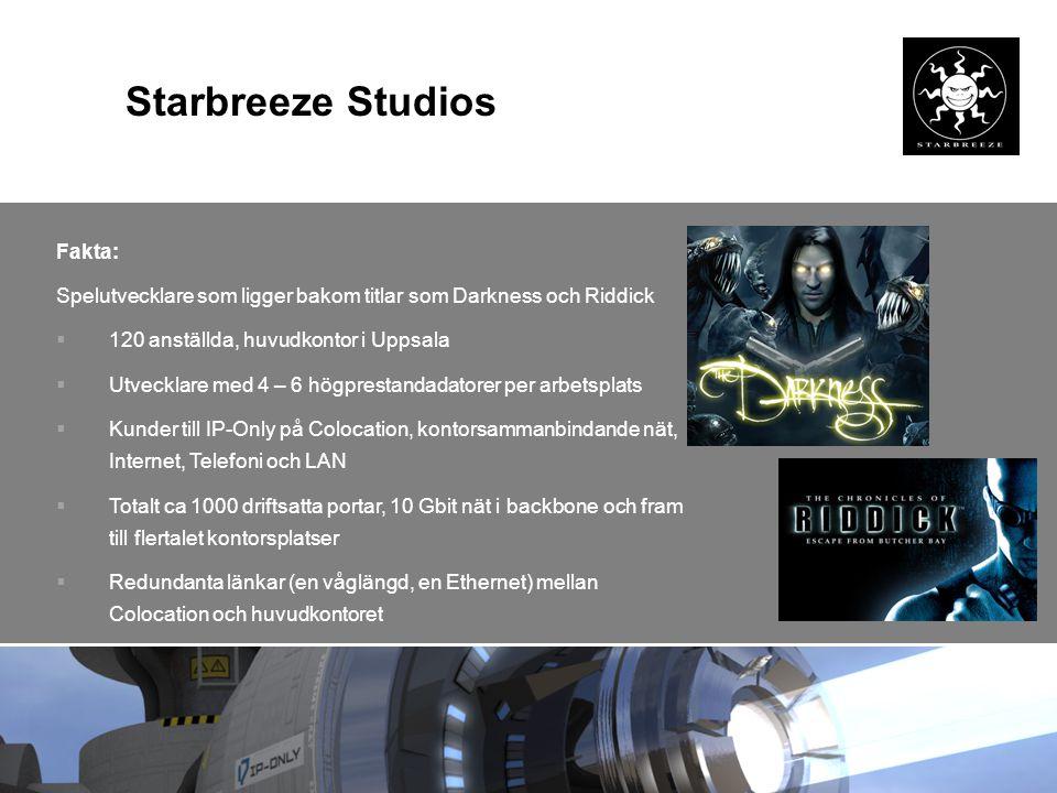 Starbreeze Studios Fakta: