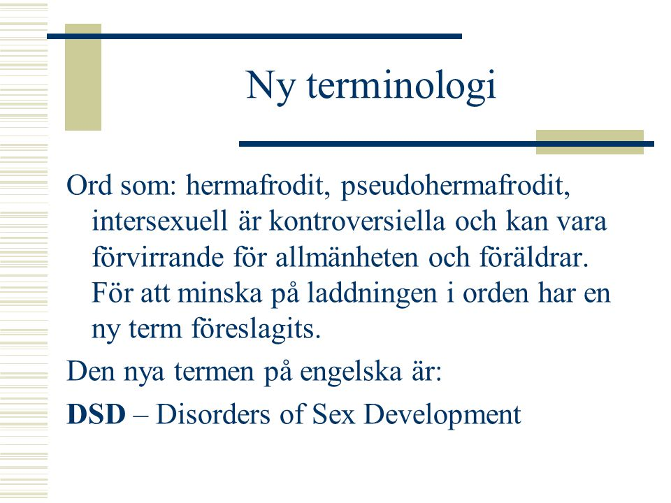 Ny terminologi