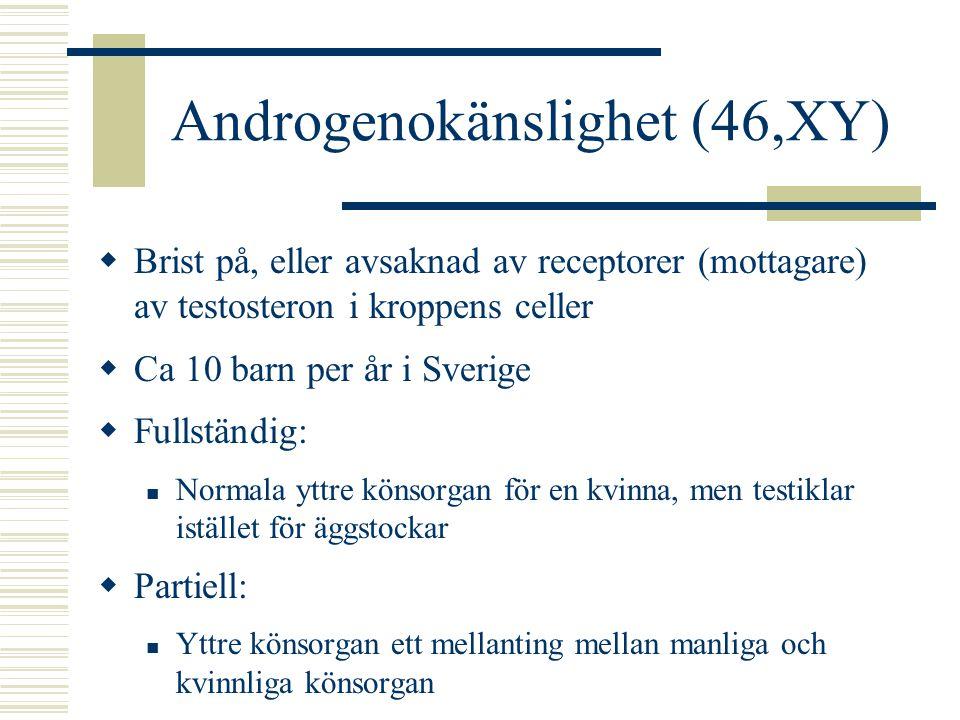 Androgenokänslighet (46,XY)