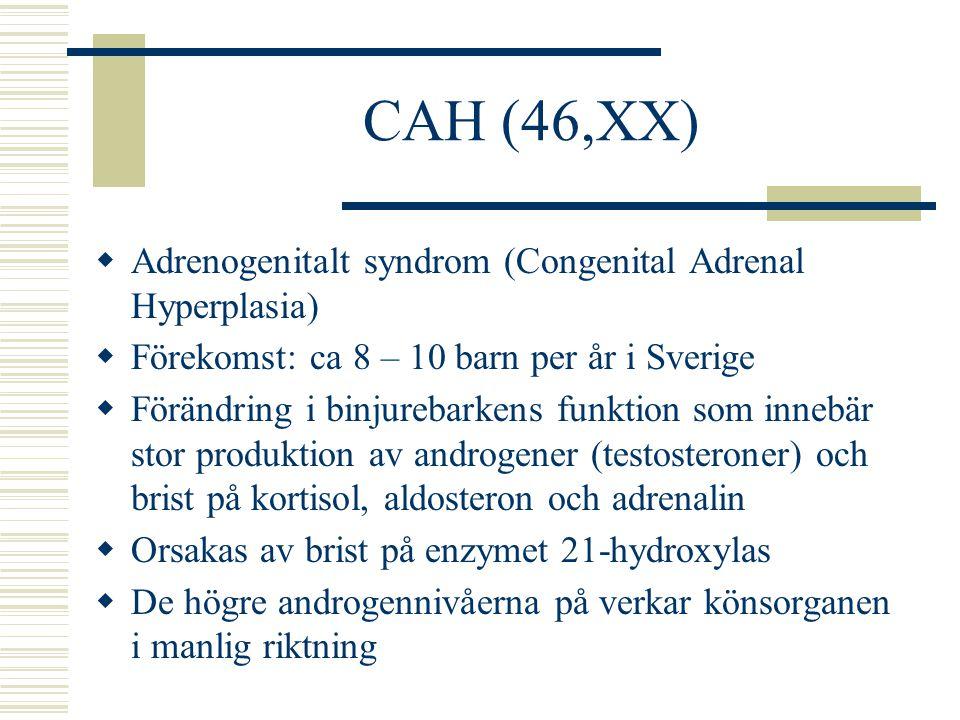 CAH (46,XX) Adrenogenitalt syndrom (Congenital Adrenal Hyperplasia)