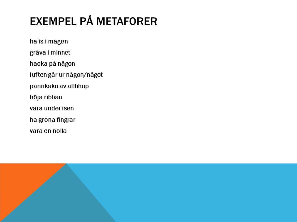 Exempel på metaforer