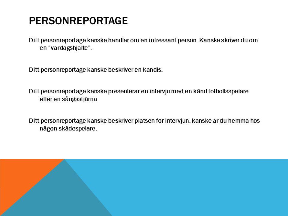 Personreportage