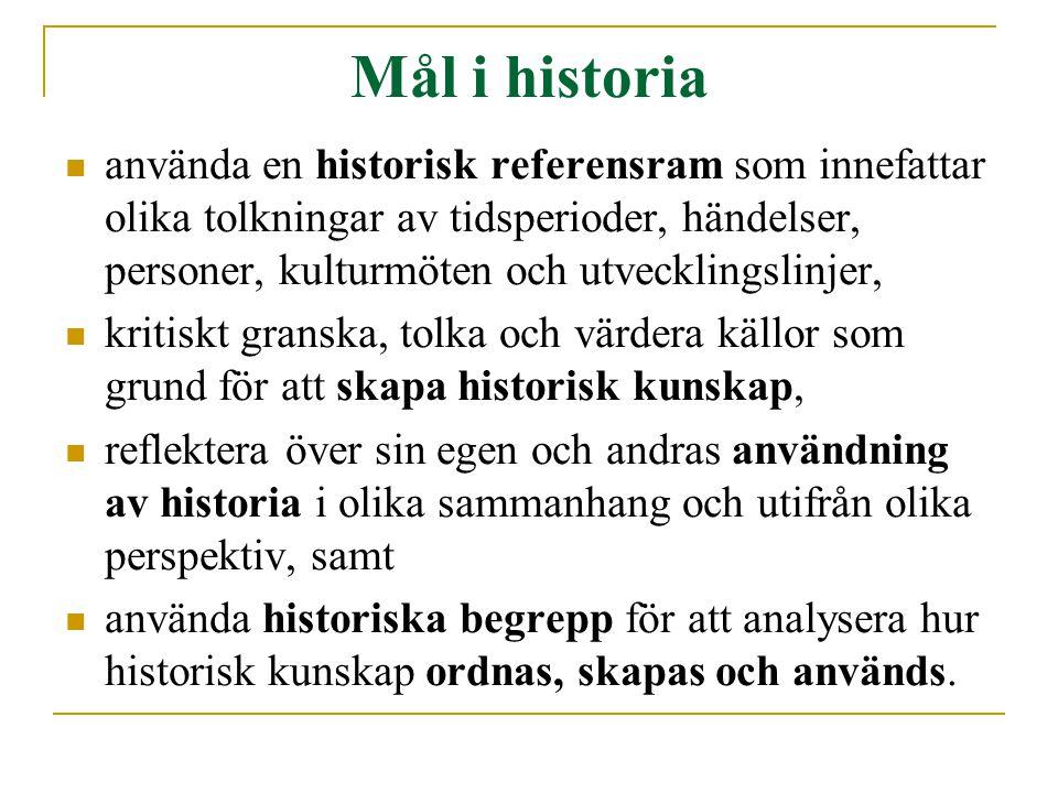 Mål i historia