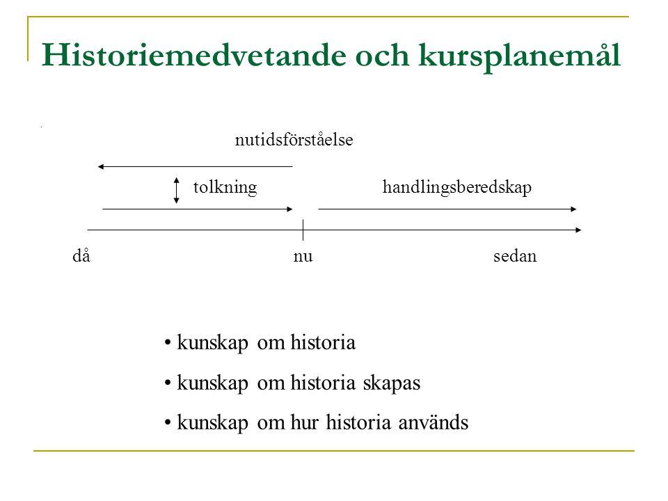 Historiemedvetande och kursplanemål