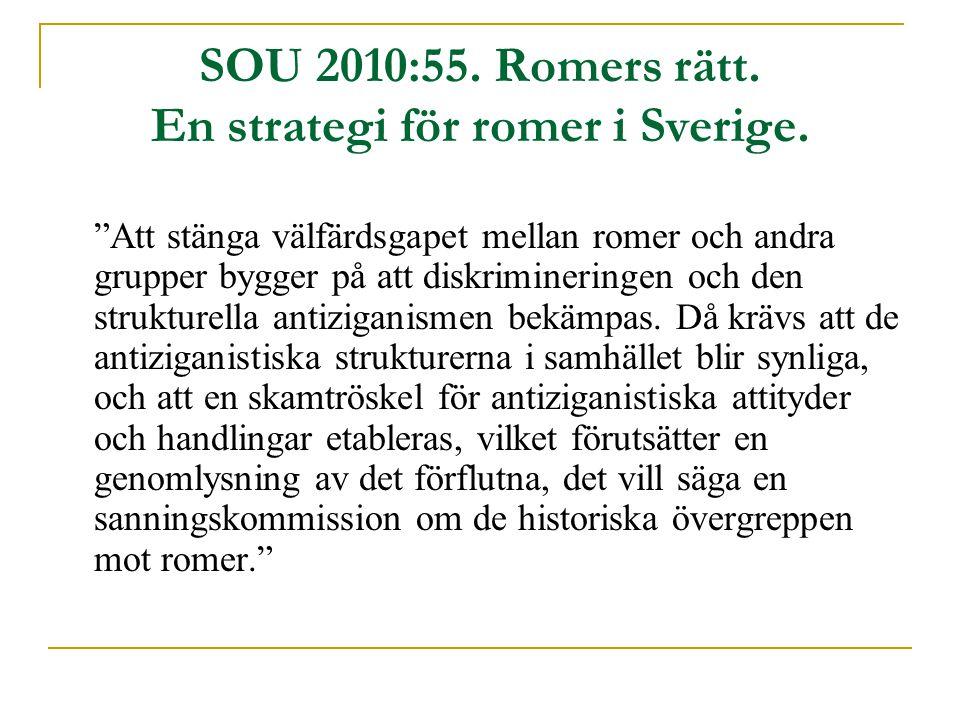 SOU 2010:55. Romers rätt. En strategi för romer i Sverige.