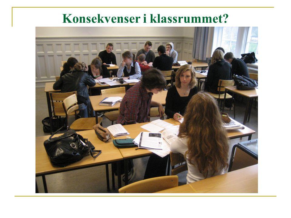 Konsekvenser i klassrummet