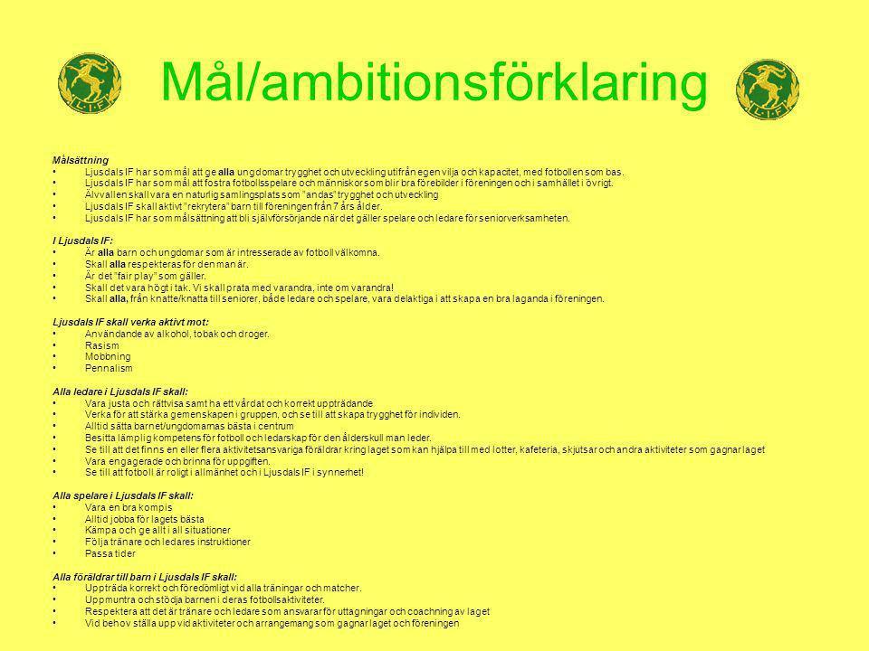 Mål/ambitionsförklaring