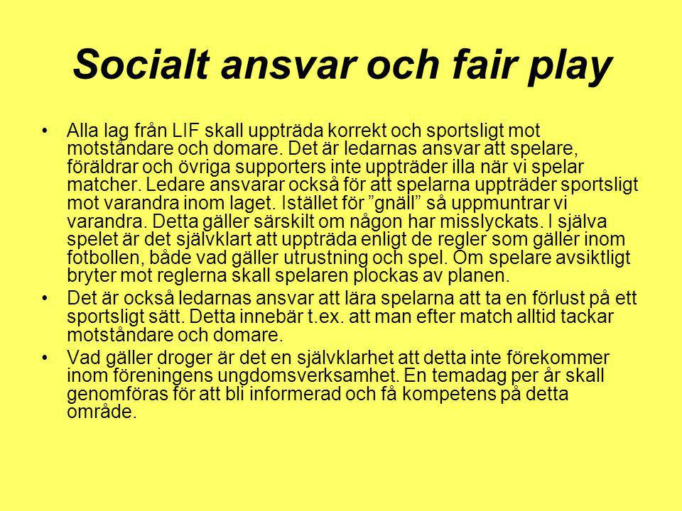 Socialt ansvar och fair play