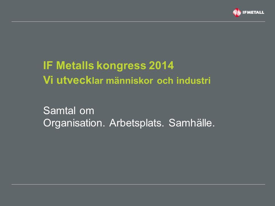 IF Metalls kongress 2014 Vi utvecklar människor och industri