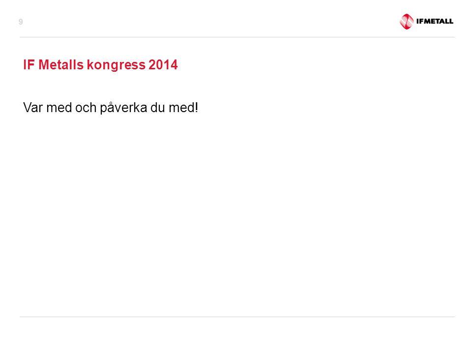 IF Metalls kongress 2014 Var med och påverka du med!