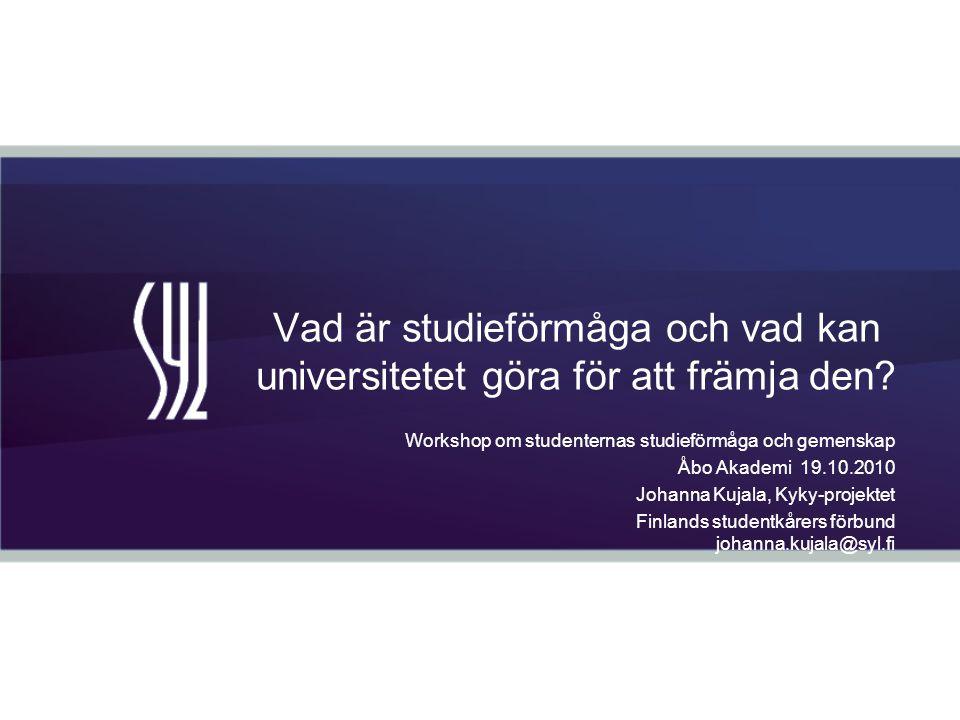 Vad är studieförmåga och vad kan universitetet göra för att främja den