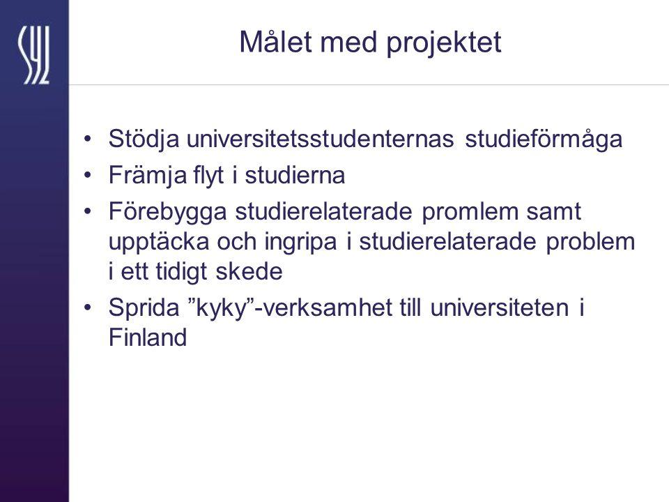 Målet med projektet Stödja universitetsstudenternas studieförmåga