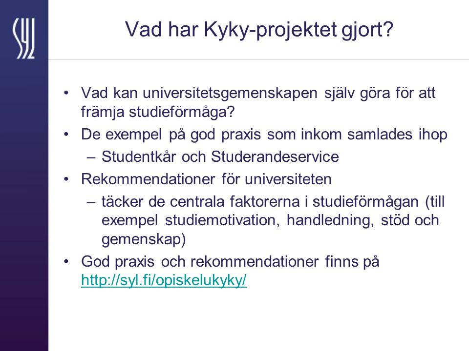 Vad har Kyky-projektet gjort