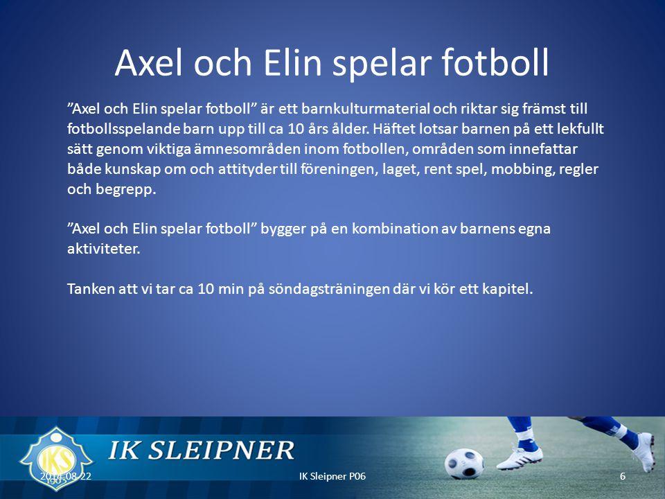 Axel och Elin spelar fotboll
