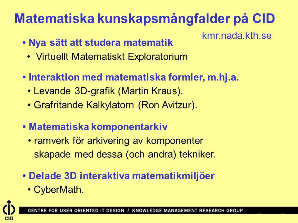 Matematiska kunskapsmångfalder på CID