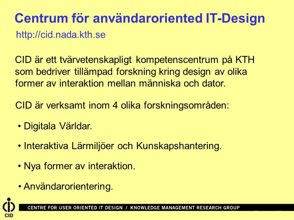 Centrum för användaroriented IT-Design